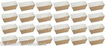 24 Culpitts Disposable Brown Card Mini Loaf / Cake Tins Trays